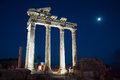 Temple of apollo ancient ruins side antalya turkey Stock Images