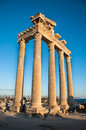 Temple of apollo ancient ruins side antalya turkey Stock Image