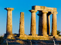 Temple of Apollo in Corinth Greece Royalty Free Stock Photo