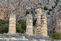 Temple of Apollo at Delphi archaeological s Royalty Free Stock Photos