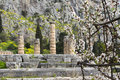 Temple apollo delphi greece Stock Photography