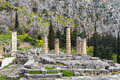 Temple apollo delphi greece Royalty Free Stock Images