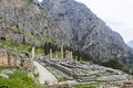 Temple apollo delphi greece Royalty Free Stock Photo