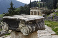 Temple apollo delphi greece Stock Photo