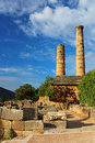 Temple of apollo in delphi greece Royalty Free Stock Photos