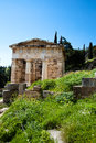 Temple of apollo in delphi greece Stock Photos