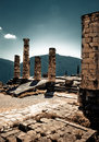 Temple of apollo in delphi greece Stock Photo