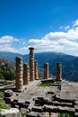 Temple of apollo the in delphi greece Royalty Free Stock Image