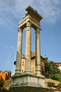 Temple of Apollo, Teatro di Marcello, Rome Stock Photos