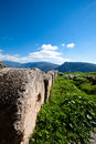 Temple of apollo a view from the in delphi greece Stock Image