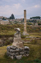 Temple of artemis ephesus the site the in turkey Stock Photography