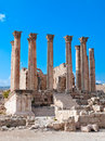 Temple of Artemis in Jerash, Jordan. Stock Image