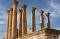 Temple of artemis jerash the ruins built in ad in jordan Stock Image