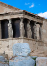 Temple of athena the at the acropolis in athens greece Stock Photography