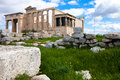 Temple of athena in athens greece Royalty Free Stock Photos