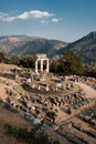 Temple of Athena in Delphi Royalty Free Stock Images