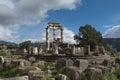 Temple of Athena Pronaia in Delphi Royalty Free Stock Photo