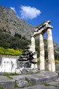 Temple of Athena Pronea, Delphi, Greece Stock Photos