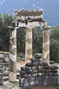 Temple of Athena pronoia at Delphi Stock Images