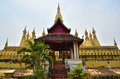 Temple atmosphere the estimable in vientiane laos Royalty Free Stock Image