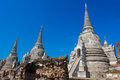 Temple of Ayutthaya Historical Royalty Free Stock Photo