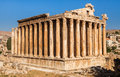 Temple of Bacchus in Baalbek ancient Roman ruins, Beqaa Valley of Lebanon Royalty Free Stock Photo
