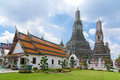 Temple with background of Wat Arun Royalty Free Stock Photo