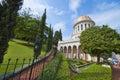 The temple in baha i gardens haifa israel Royalty Free Stock Photography