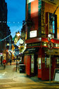 Temple Bar area in Dublin. Ireland Royalty Free Stock Photography