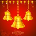 Temple bell illustration of hanging on festival background Royalty Free Stock Photography