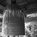 Temple bell wood japan japanese misawa tohoku Stock Images
