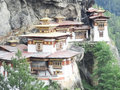 Temple in bhutan beautiful temples high mountain Royalty Free Stock Images