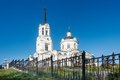 Temple of the blessed virgin assumption russia church verkhnyaya pyshma sverdlovsk region Stock Photography