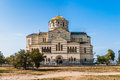 Temple on the blue sky in khersones view crimea ukraine Stock Images