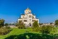 Temple on the blue sky in khersones view crimea ukraine Stock Photos