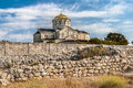 Temple on the blue sky in khersones view crimea ukraine Royalty Free Stock Images