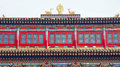 Temple building the close up of of jixiang in wutaishan shanxi china Stock Image