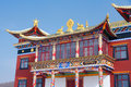 Temple building the close up of of shiziwo in wutaishan shanxi china Royalty Free Stock Images