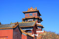 Temple building under the blue sky chinese Royalty Free Stock Images