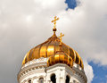 Temple cathedral of christ the savior in moscow russia Royalty Free Stock Photo