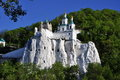 Temple on a chalky mountain Stock Photo