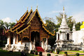 Temple in chiang mai an old thailand Royalty Free Stock Images