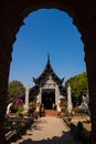 Temple in chiang mai temples with a clear sky day Royalty Free Stock Image