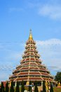 Temple chinese style the in chiangrai province Royalty Free Stock Images