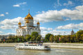 Temple of Christ the Savior in Moscow Stock Images