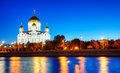 Temple of Christ the Savior in Moscow Royalty Free Stock Photos