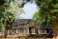 Temple complex angkor wat cambodia Royalty Free Stock Images