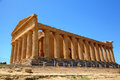 Temple of concordia in agrigento sicily italy Royalty Free Stock Photo