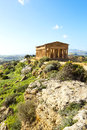 Temple of concordia valley the temples in agrigento on sicily italy Royalty Free Stock Photos