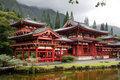 Temple d'Hawaï o de byodo d'aho Photo stock